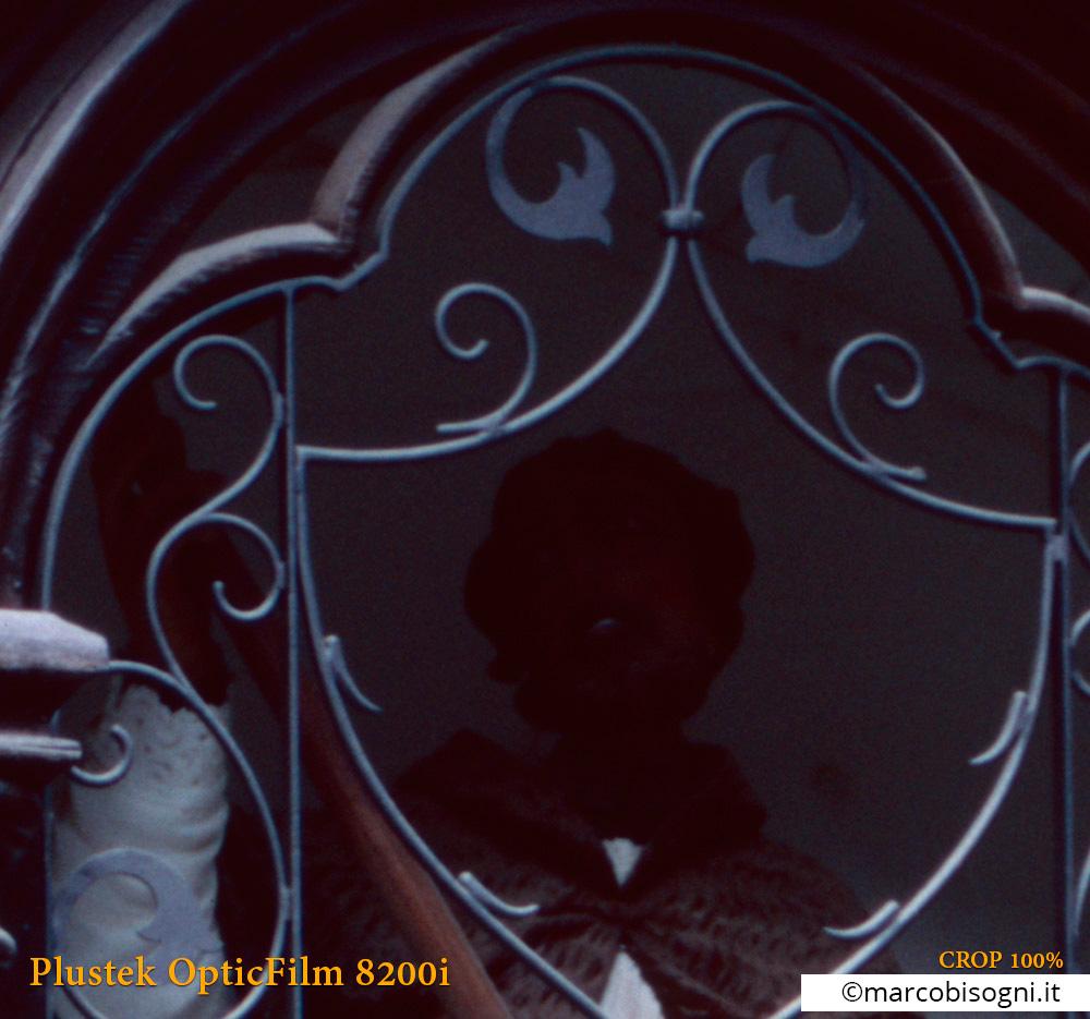 Plustek OpticFilm 8200i. Test lettura ombre. Crop 100%