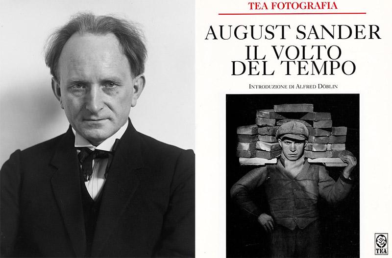 August Sander: autoritratto (sx) - Il volto del tempo (dx)