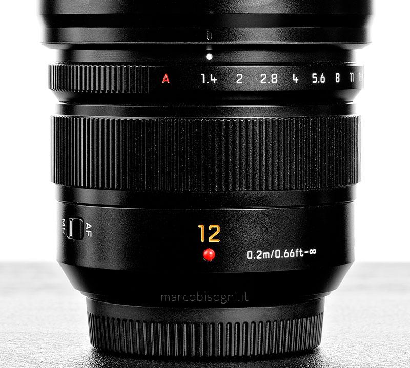 Leica 12mm f/1.4 - Ghiera dei diaframmi e della messa a fuoco