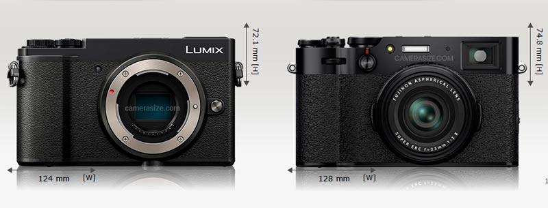 Lumix GX9 (a sx) - Fujifilm X100V (a dx)